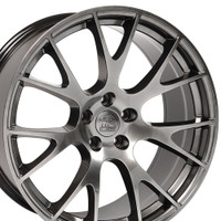 DG15 20-inch Hyper Black Rims fit Dodge Charger-Challenger (Hellcat style) 2p