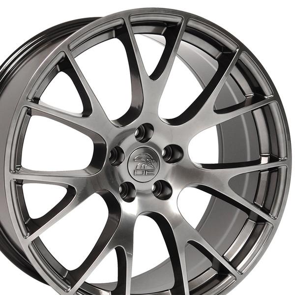 DG15 20-inch Hyper Black Rims fit Dodge Charger-Challenger (Hellcat style) 2p