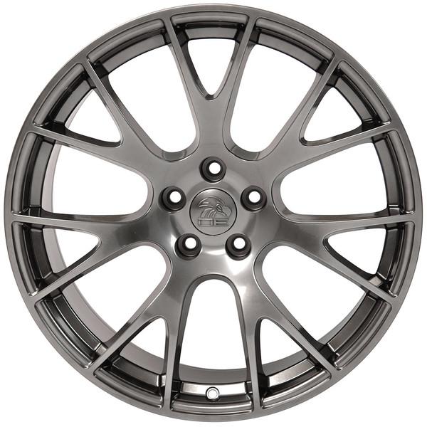 DG15 20-inch Hyper Black Rims fit Dodge Charger-Challenger (Hellcat style) 1