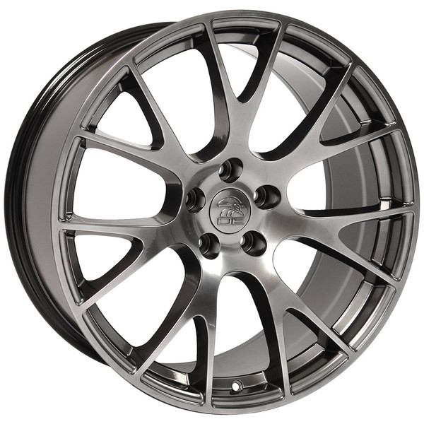 DG15 20-inch Hyper Black Rims fit Dodge Charger-Challenger (Hellcat style) 2