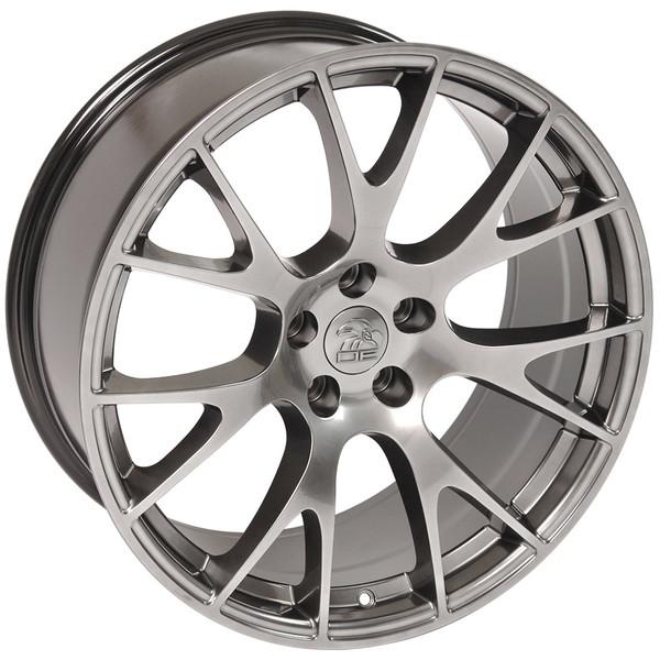 DG15 20-inch Hyper Black Rims fit Dodge Charger-Challenger (Hellcat style) 3
