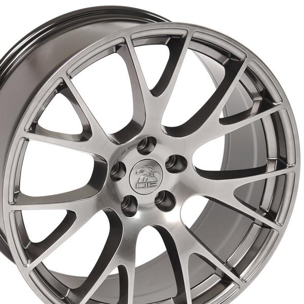 DG15 20-inch Hyper Black Rims fit Dodge Charger-Challenger (Hellcat style) 3p