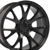 DG15 20-inch Satin Black Rims fit Dodge Charger-Challenger (Hellcat style) 2p