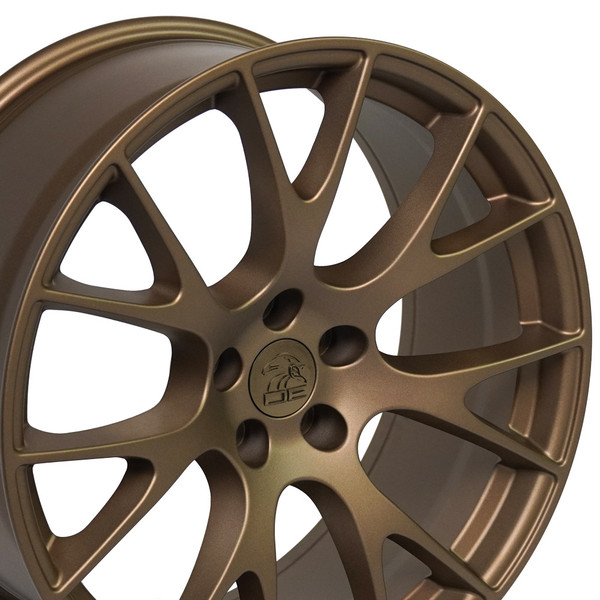 A set of DG15 bronze wheels on a nice 2010 Dodge Challenger