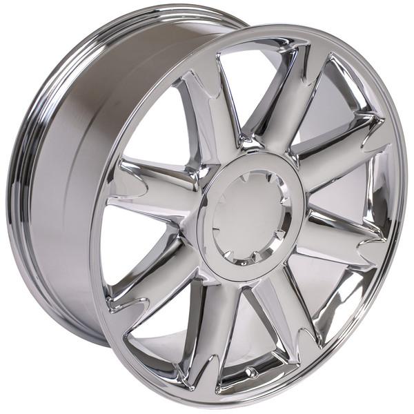 cv85 20 inch chrome rims goodyear tires for gmc denali. Black Bedroom Furniture Sets. Home Design Ideas