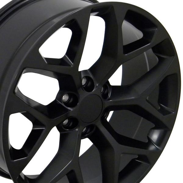 20 Wheel Fits Chevy Silverado Snowflake Ck156 Cv98 20x9 Satin Black