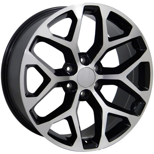 Sierra Style Replica Wheels Black Mach D Face 20x9 Set