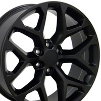 Black GMC Sierra Snowflake Rims