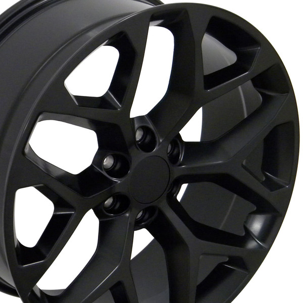 Black GMC Sierra Snowflake Wheels