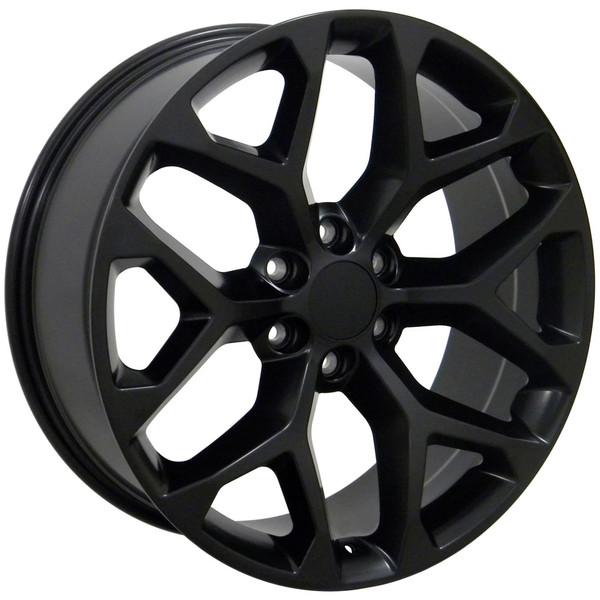 Black Sierra Snowflake Wheels 5668