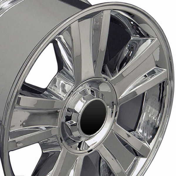 Cv86 20 Inch Chrome Rims Amp Goodyear Tires For Chevy Tahoe