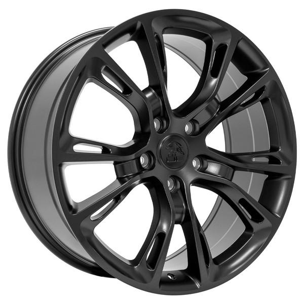 set of 20 inch satin black rims fits jeep grand cherokee jp16 replica wheels. Black Bedroom Furniture Sets. Home Design Ideas
