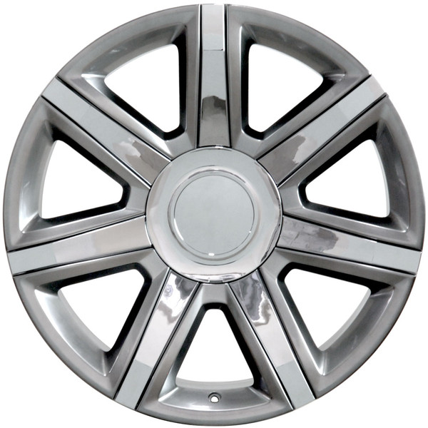 Cadillac Escalade Style Replica Wheels Hyper Silver With Chrome Insert 22x9 Set