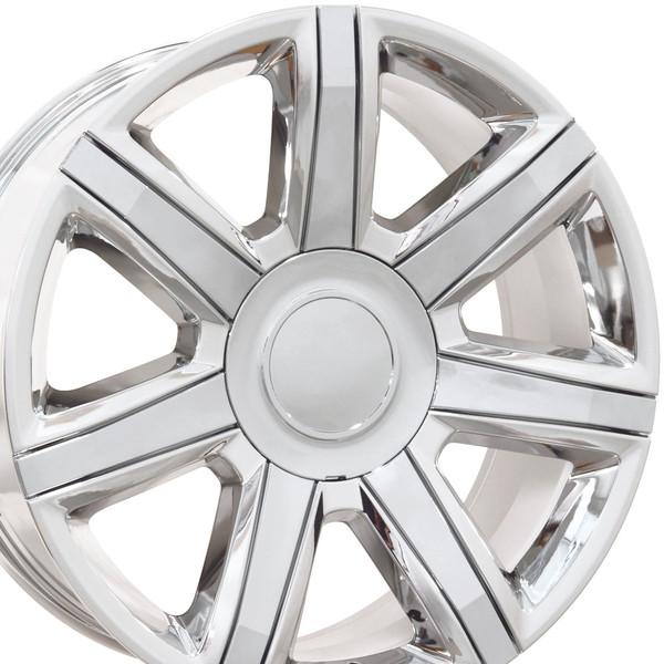 Cadillac Escalade Style Replica Wheels PVD Chrome With