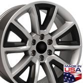 CV73 hyper black Chevy truck wheels (Tahoe style)