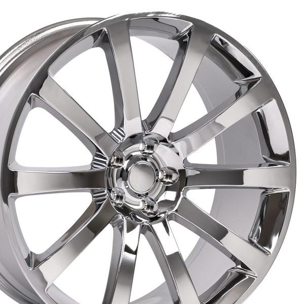 Chrysler 300 SRT Style Replica Wheels Chrome 22x9 SET