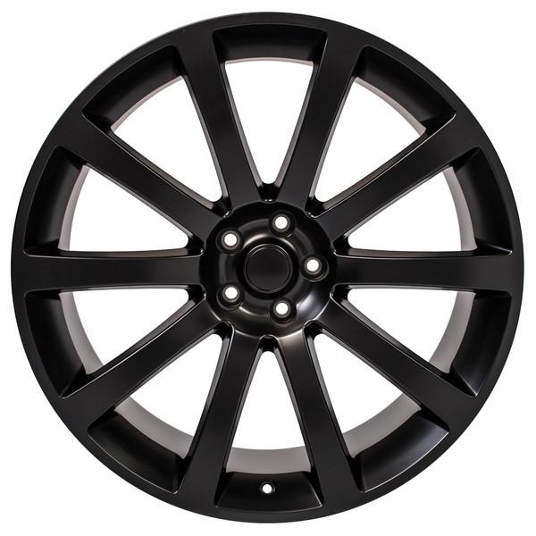 Chrysler 300 SRT Style Replica Wheels Matte Black 22x9 SET