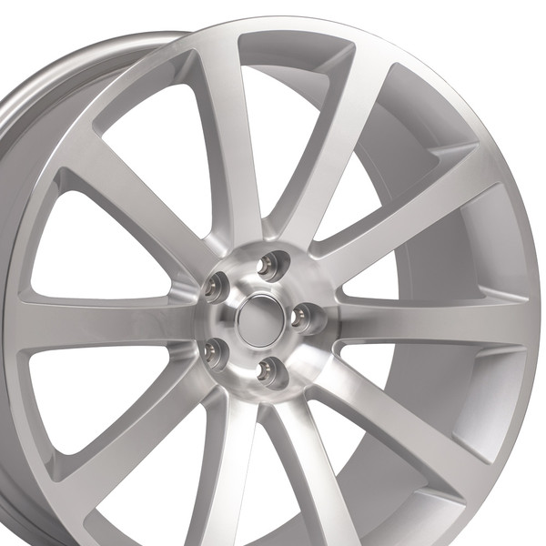 Chrysler 300 SRT Style Replica Wheels Silver 22x9 SET