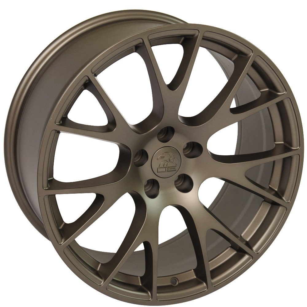 New 22x10 Bronze Hellcat Style Rims Set For Dodge Ram 1500