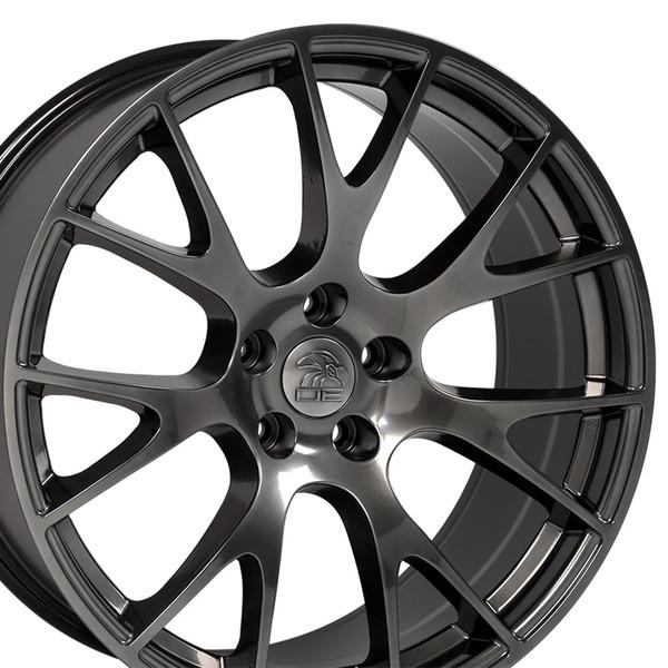 22 inch hyper black rims fits Ram 1500 (Hellcat style) DG15-2p