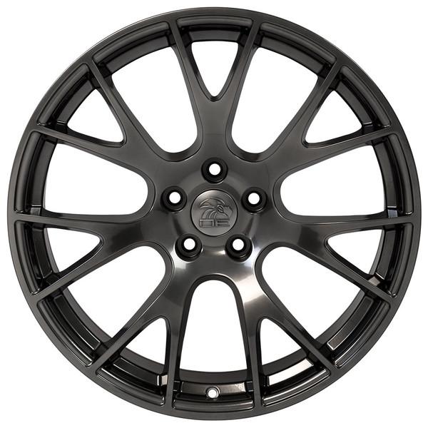 22 inch hyper black rims fits Ram 1500 (Hellcat style) DG15-1