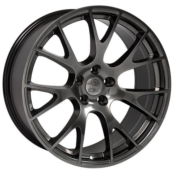 22 inch hyper black rims fits Ram 1500 (Hellcat style) DG15-2
