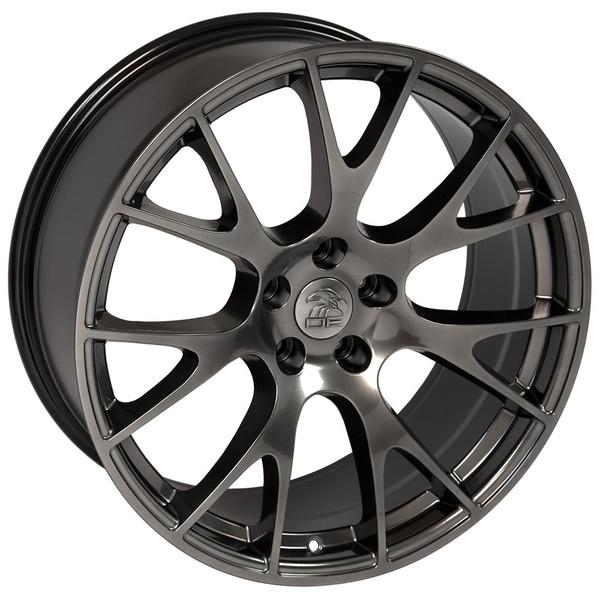 22 inch hyper black rims fits Ram 1500 (Hellcat style) DG15-3