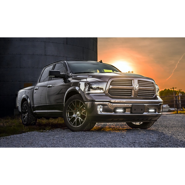 22-inch DG69 hyper black rims on a 2017 Ram 1500