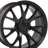 22 inch satin black rims fits Ram 1500 (Hellcat style) DG69-2p
