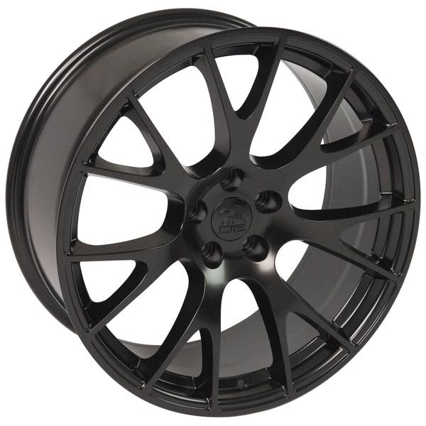 22 inch satin black rims fits Ram 1500 (Hellcat style) DG69-3