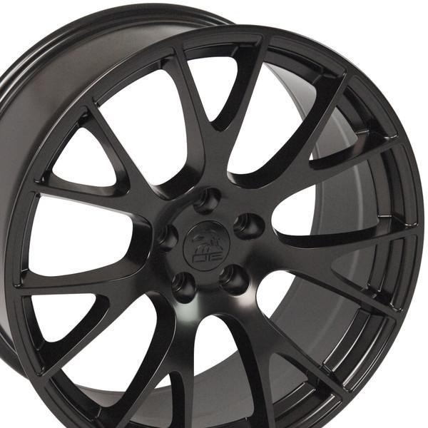 22 inch satin black rims fits Ram 1500 (Hellcat style) DG69-3p