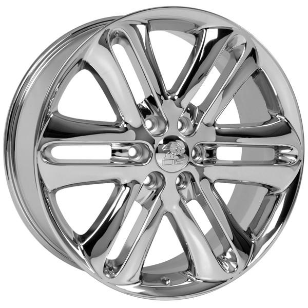 Ford F150 Rims >> 22 Inch Chrome Rims Fit Ford F 150 Fr76 Replica Wheels