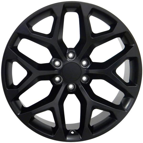Snowflake Rim CK156 Black Silverado
