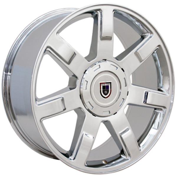 """24"""" Wheels For Cadillac Escalade CA80 24x10 Chrome Rims SET"""