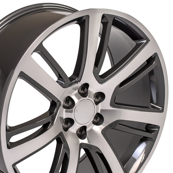 """24"""" Wheels For Cadillac Escalade CA88 24x10 Gunmetal"""