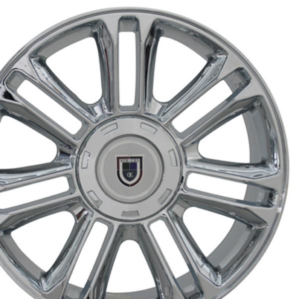 "CA83 20"" Chrome Rims & Goodyear Tires For Cadillac"