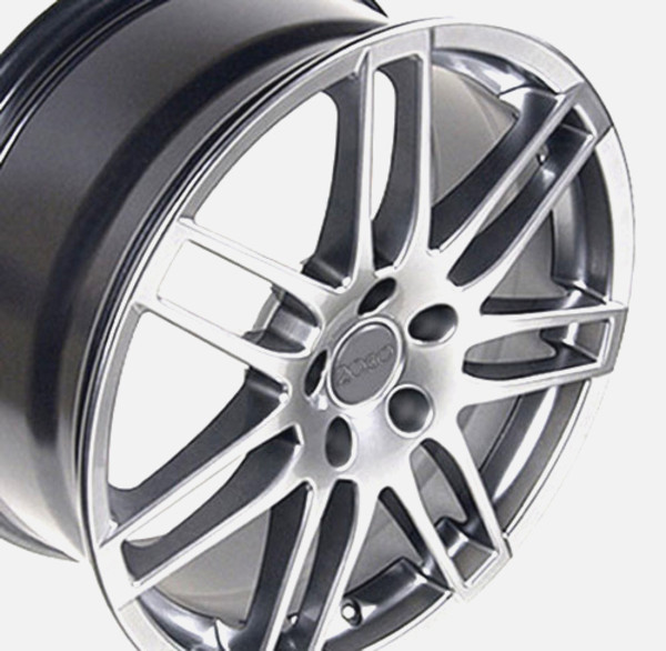 RS4 style wheel hyper silver fits audi cc