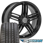 Gloss Black RS6 Rims for Audi VW 45