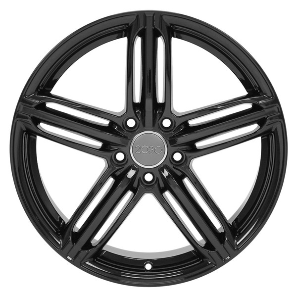RS6 Rims for Audi VW Gloss Black 45
