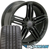 Gloss Black RS6 Rims for Audi VW 35