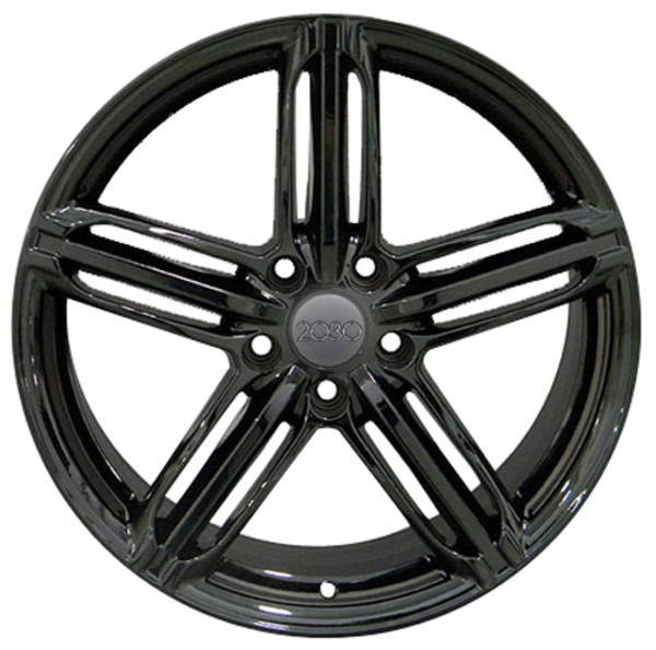 RS6 Rims for Audi VW Gloss Black 35