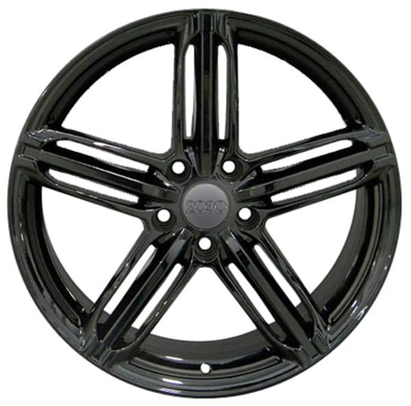 RS6 Rims for Audi VW Gloss Black 35