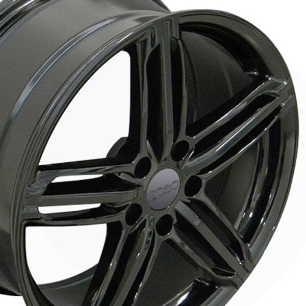 Gloss Black Audi RS6 Wheels 35