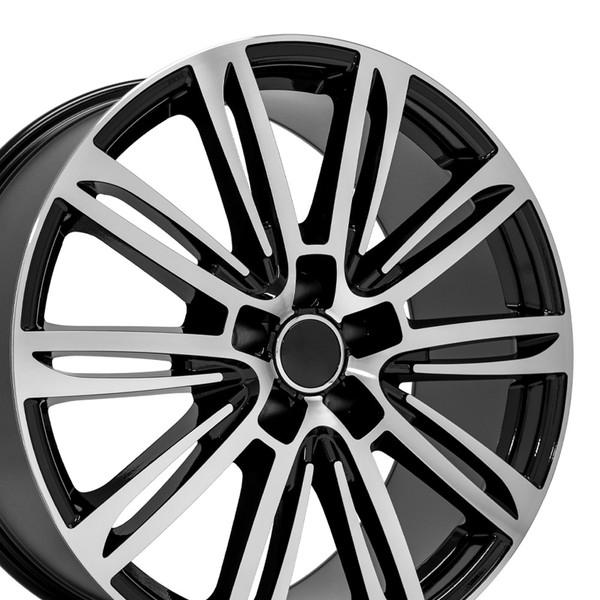 A7 style rim fits Audi A5 black machined