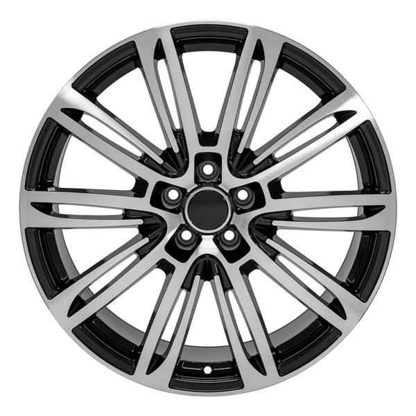 A7 style rim fits Audi A6 black machined