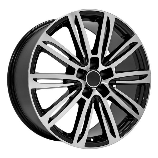 A7 style rim fits Audi A4 black machined