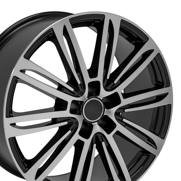 A7 style rim fits Audi A8 black machined