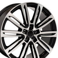 A7 style wheel fits Audi A5 black machined