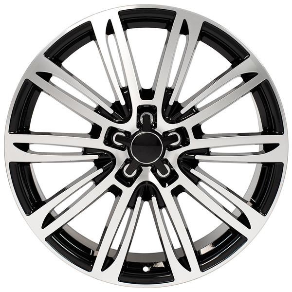 A7 style wheel fits Audi A4 black machined