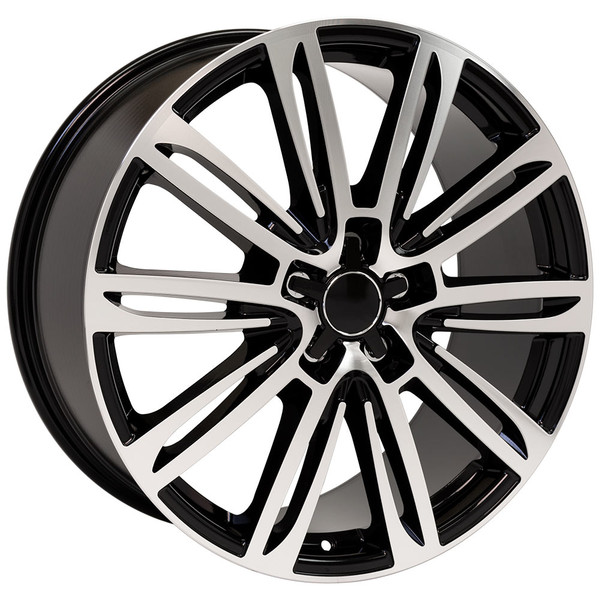 A7 style wheel fits Audi A6 black machined